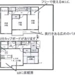 4LDK+WIC×2土地面積101.18㎡、建物面積104.75㎡(間取)