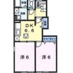 DK6.6帖、洋室6帖×2部屋(間取)