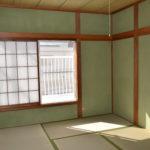 2階和室6帖 明るい和室です。東側が開けていますので開放感があります。(寝室)