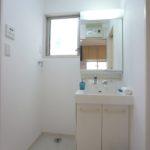洗面台と洗濯機置き場(内装)