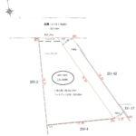 区画図 土地面積104.46㎡(31.59坪)セットバック後 約102.37㎡(30.96坪)