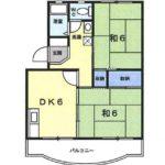 3階301号室 2DK(間取)